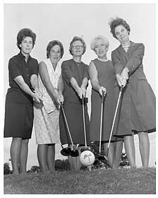 Women in the early days at the Capital City CC golf course